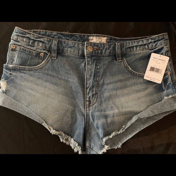 Free People Pants - Free People New Size 30 Distressed Denim Cutoffs